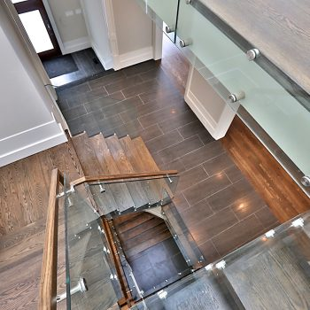 19-ZarconHome-TransitionalHome-Toronto-CustomHome-Stairs-GlassRailing