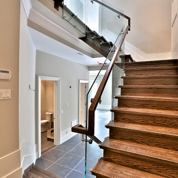3-ZarconHome-TransitionalHome-Toronto-CustomHome-Stairs-GlassRailing