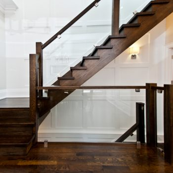 6-ZarconHome-TransitionalHome-Toronto-CustomHome-Glassrail-Stairs